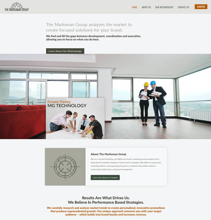 Philadelphia Web Design Portfolio - The Marksman Group
