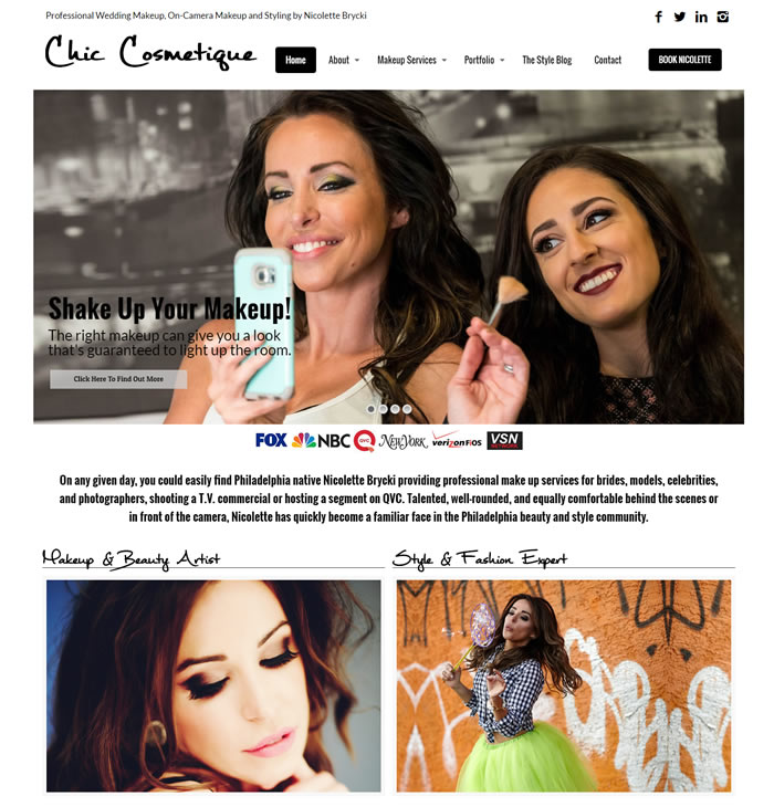 Chic Cosmetique Web Design Portfolio