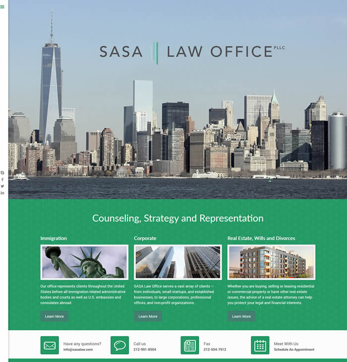 Sasa Law Office Web Design Portfolio