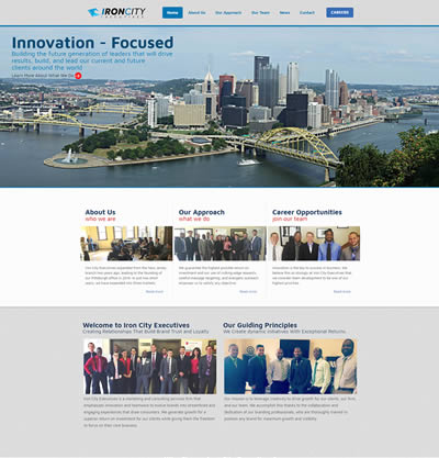 Philadelphia Web Design Portfolio - Iron City Execs