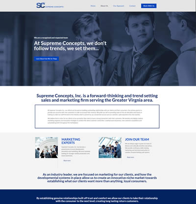 Philadelphia Web Design Portfolio - Supreme Concepts Inc